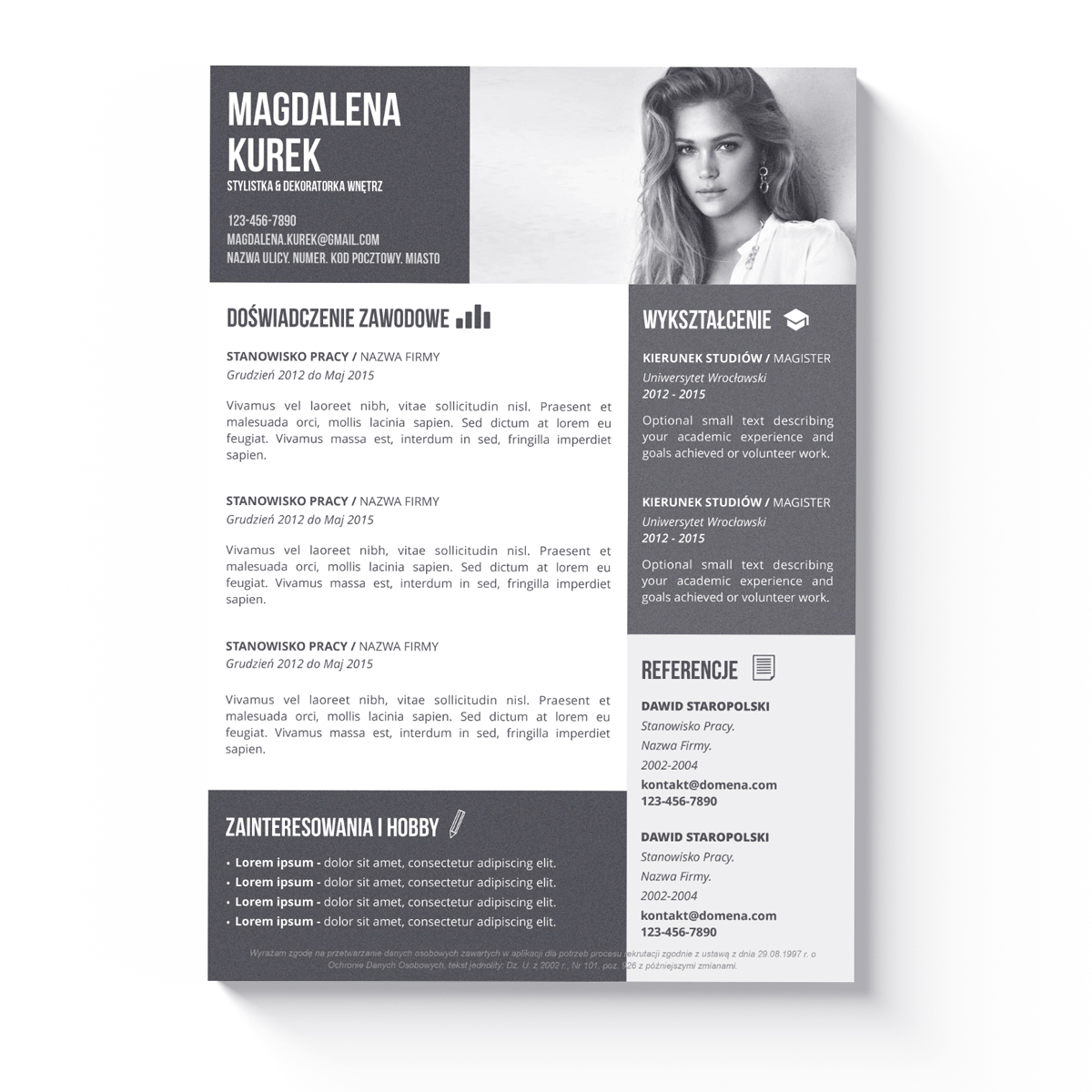 sample graphic designer resume