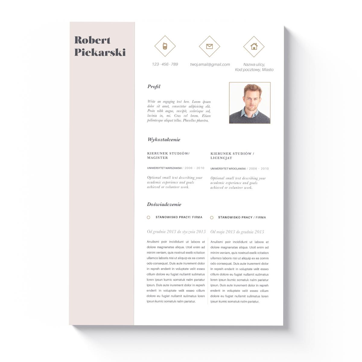 Szablon CV + List Motywacyjny Richmond-1