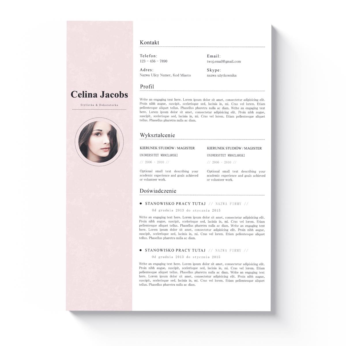 Szablon CV + List Motywacyjny Dallas-1