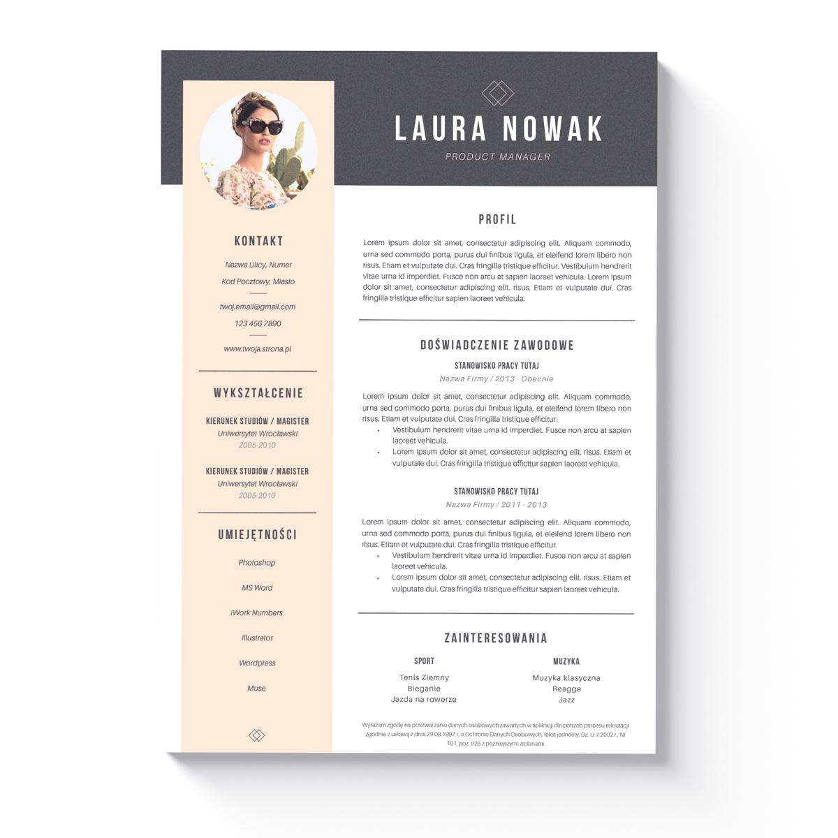 Szablon CV + List Motywacyjny Des-Moines-1