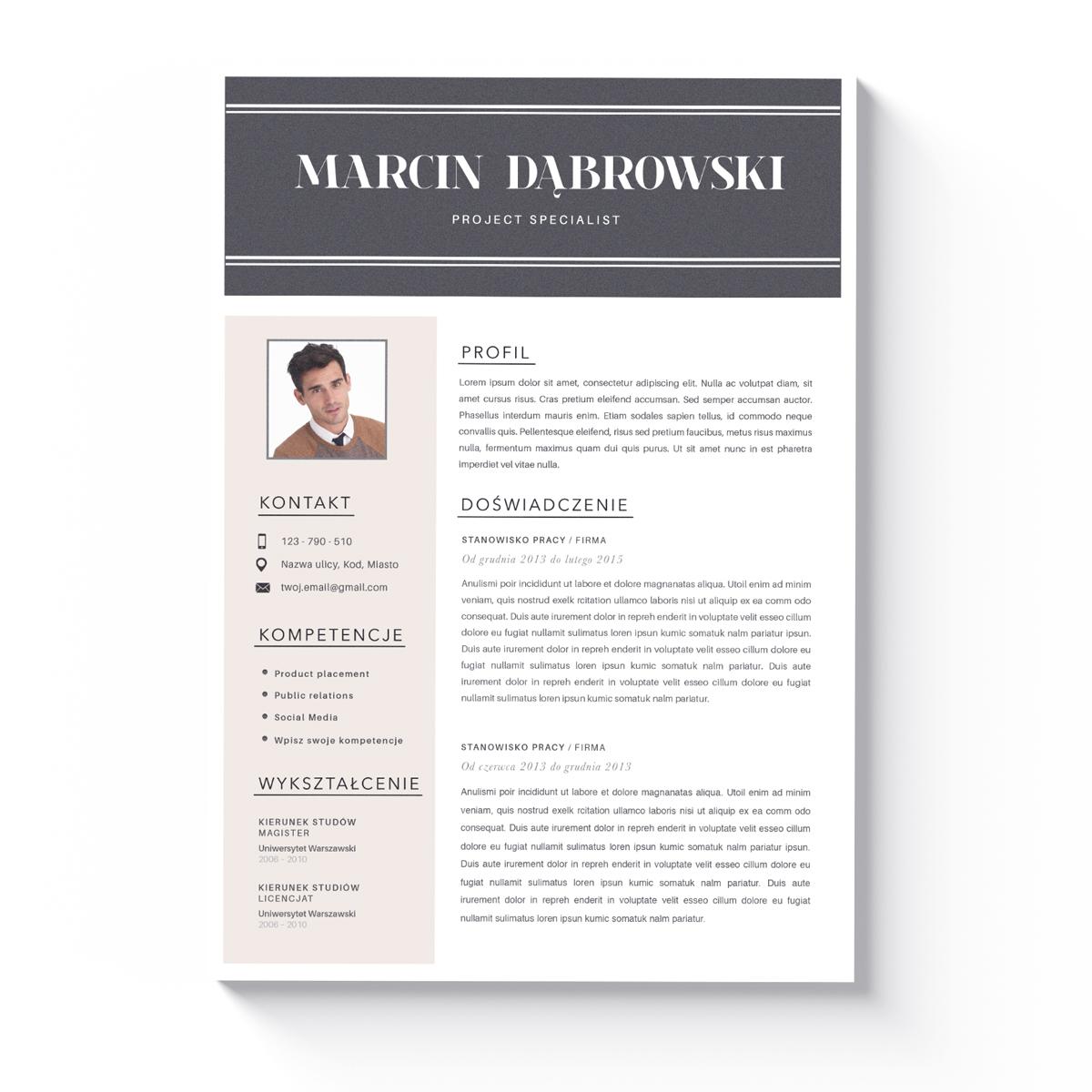Szablon CV + List Motywacyjny Jackson-1