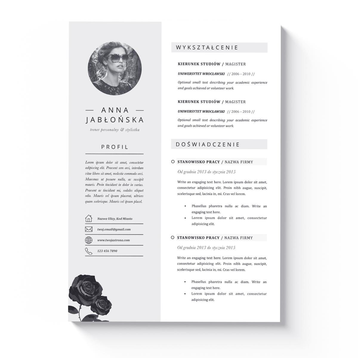 Szablon CV + List Motywacyjny Montgomery-1