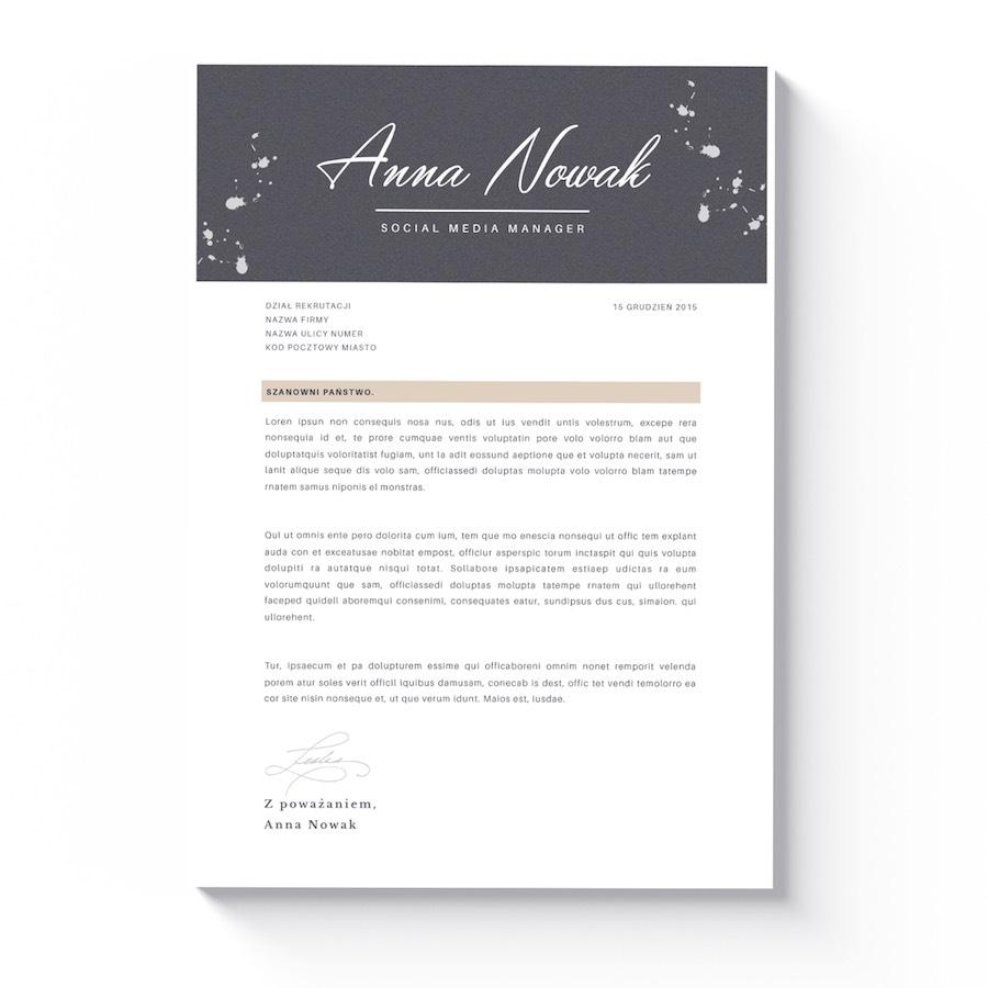 szablon cv dla kobiety list motywacyjny annapolis