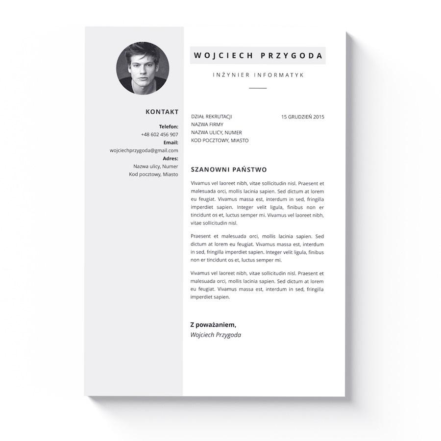 szablon cv iwork pages list motywacyjny memphis