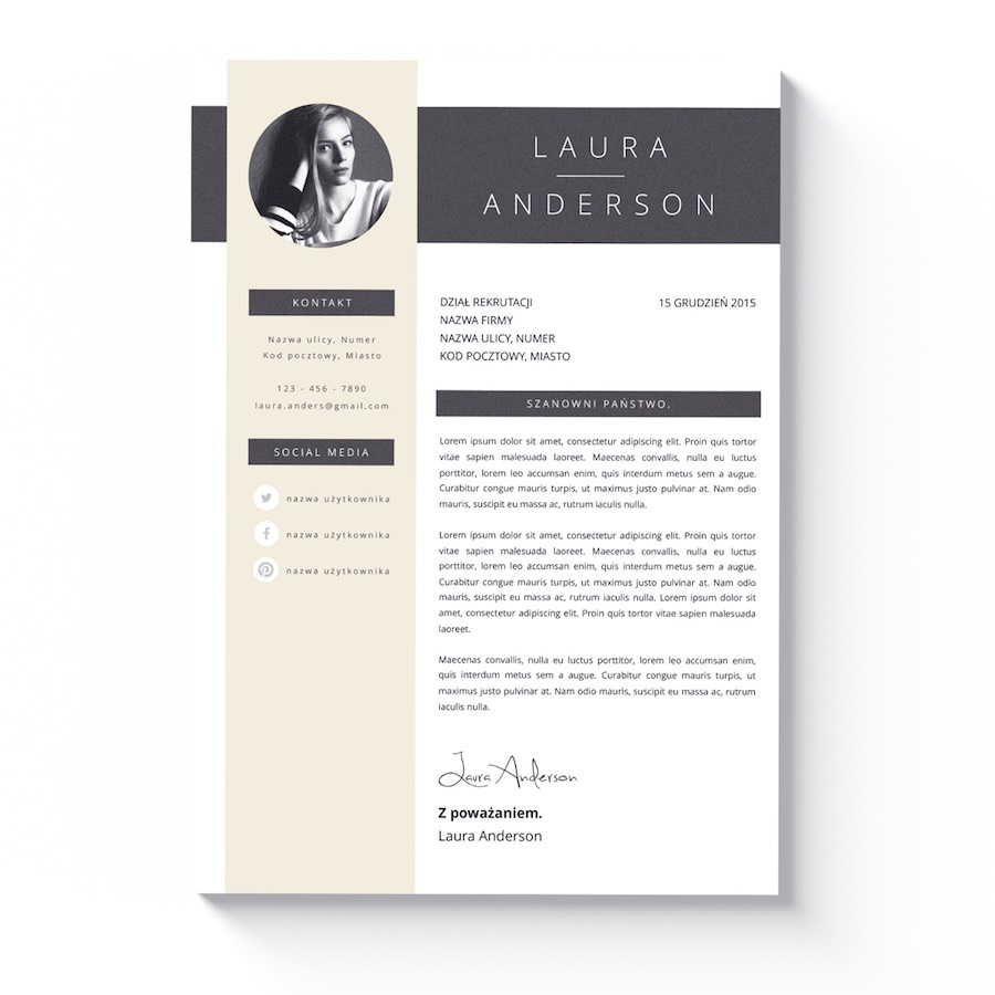 czytelny szablon cv list motywacyjny pittsburgh