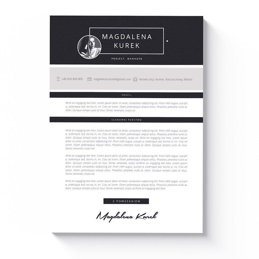 szablon cv praca biurowa list motywacyjny sacramento