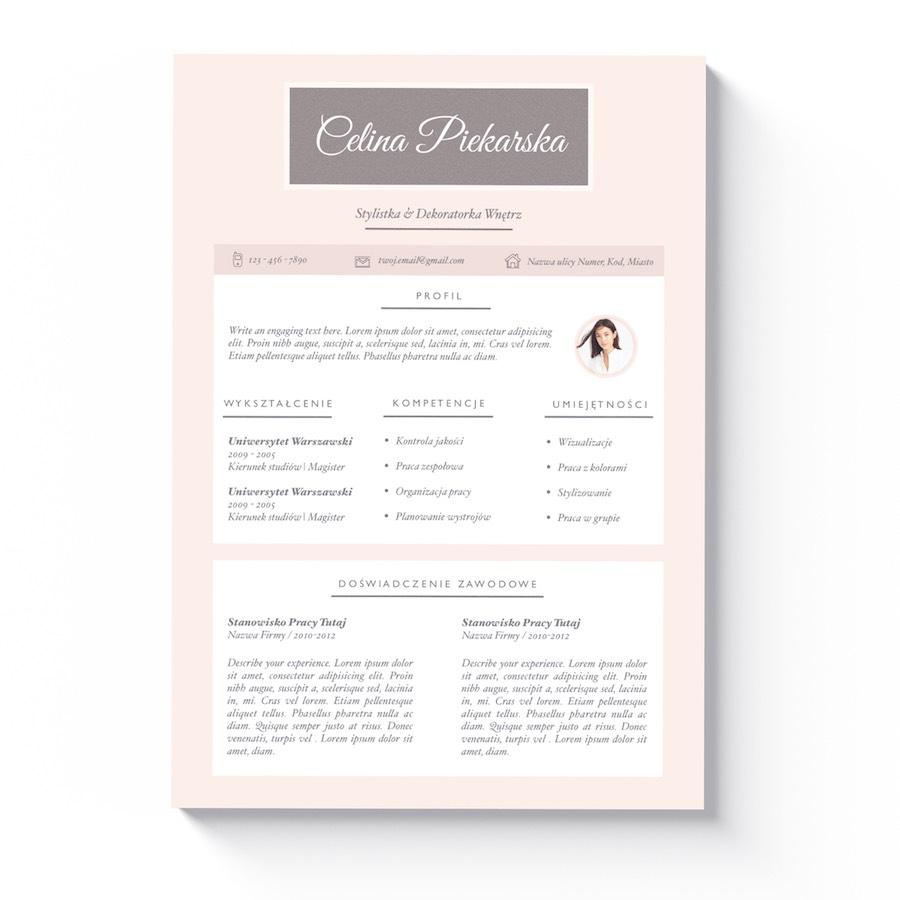 Curriculum Vitae List Motywacyjny Austin Kreatywny Wzór Dla Kobiet