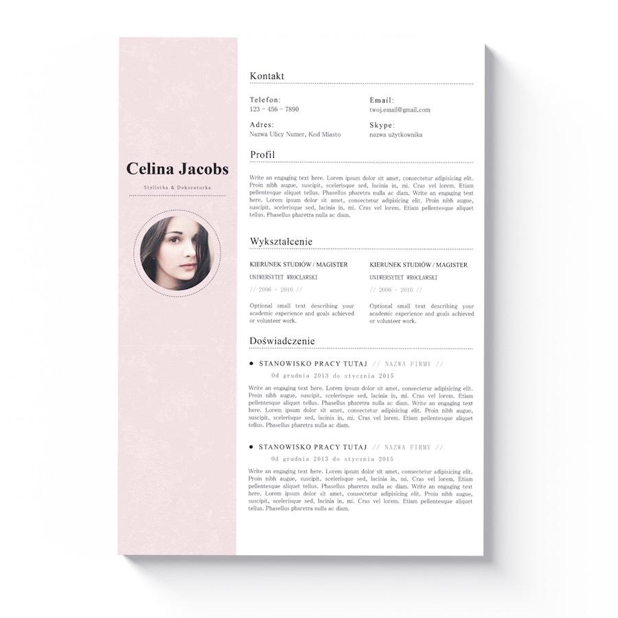 Piękne Wzory Cv List Motywacyjny Dallas Kreatywne Wzory łatwa
