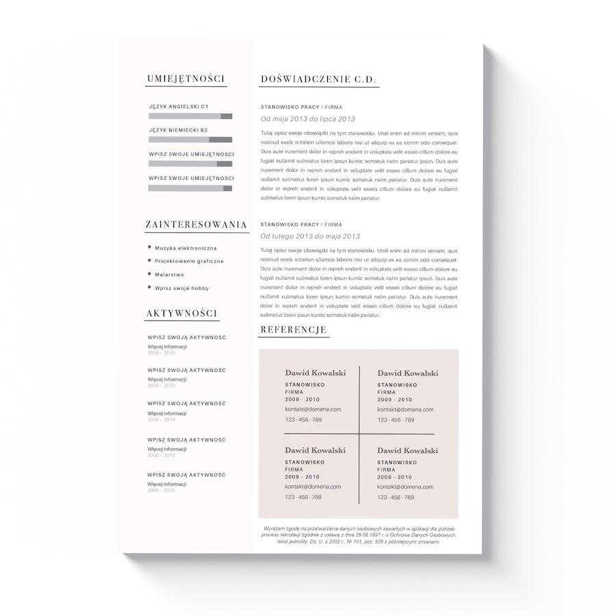 wzór cv i listu motywacyjnego helena
